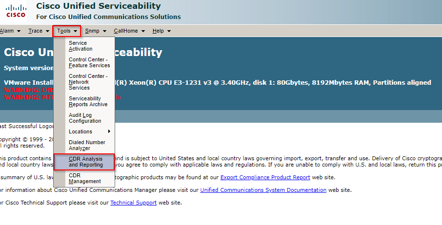How To Check CDR Cisco Data – Xima Software Support Portal