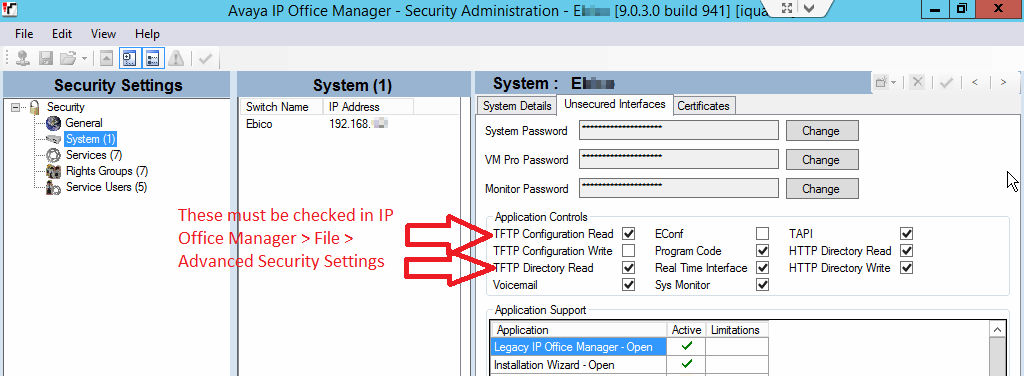 Configuration Tips (Avaya IP Office) – Xima Software Support
