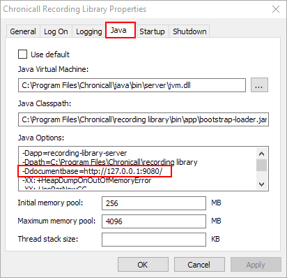 How do I change the IP address of the Chronicall Server that
