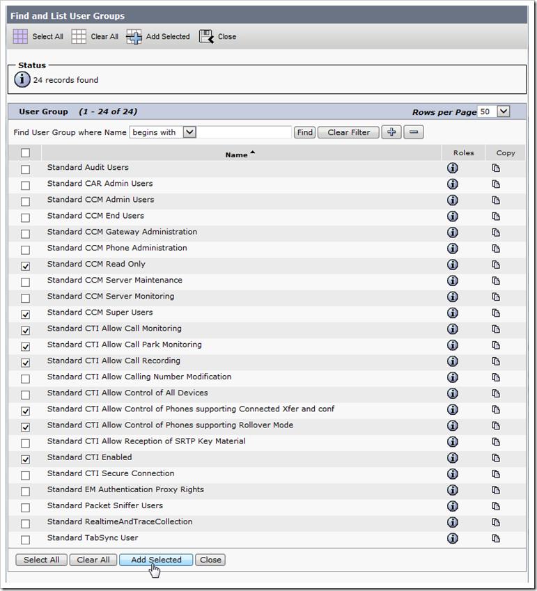 Configure Cisco Unified Application user – Xima Software